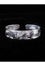 "Nancy Dawson 1/2"" Wolf Silver Bracelet"
