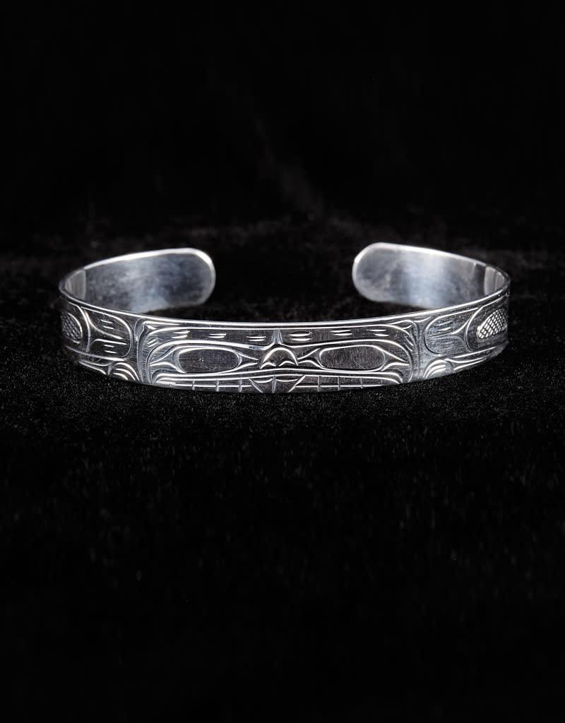 "Harper Victoria Bear 3/8"" Silver Bracelet"