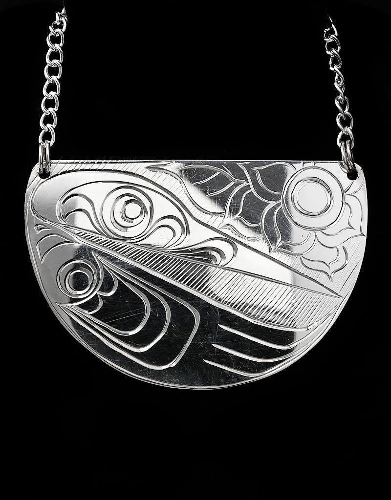 Agnes Wisden Hummingbird Half Moon Pendant