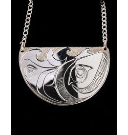 Agnes Wisden Humpback Whale Silver Necklace