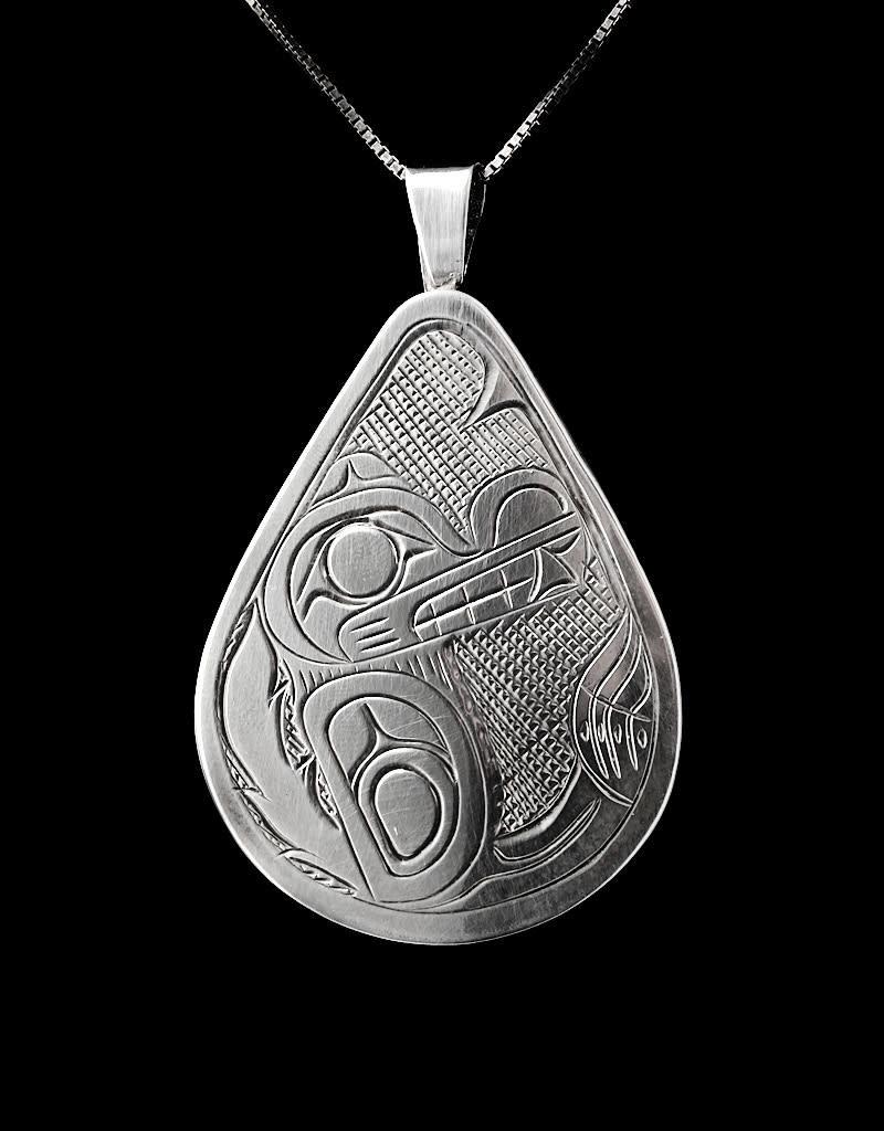 Harper Victoria Wolf Silver Pendant