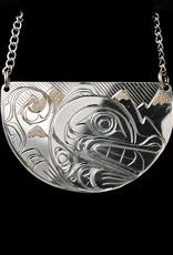 Agnes Wisden Wolf Half Moon necklace