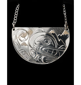 Agnes Wisden Wolf Half Moon necklace