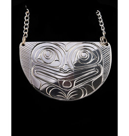Agnes Wisden Bear Half Moon Necklace