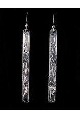 Agnes Wisden Eagle Silver Earring Long