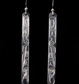 Agnes Wisden Eagle Silver Earring Long