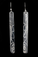 Agnes Wisden Salmon Silver Earring Long
