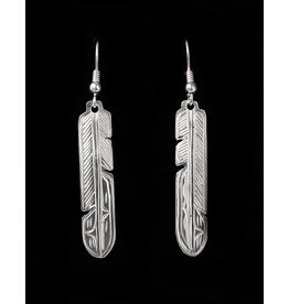 Harper Victoria Feather Silver Earring