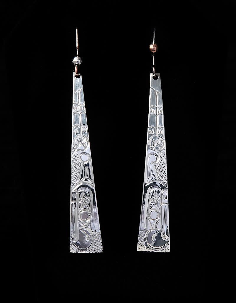 Harper Victoria Long Thunderbird Silver Earring