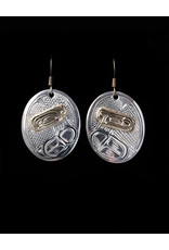 Harper Victoria Raven Silver & Gold Earring