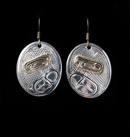 Harper Victoria Raven Silver & Gold Earring