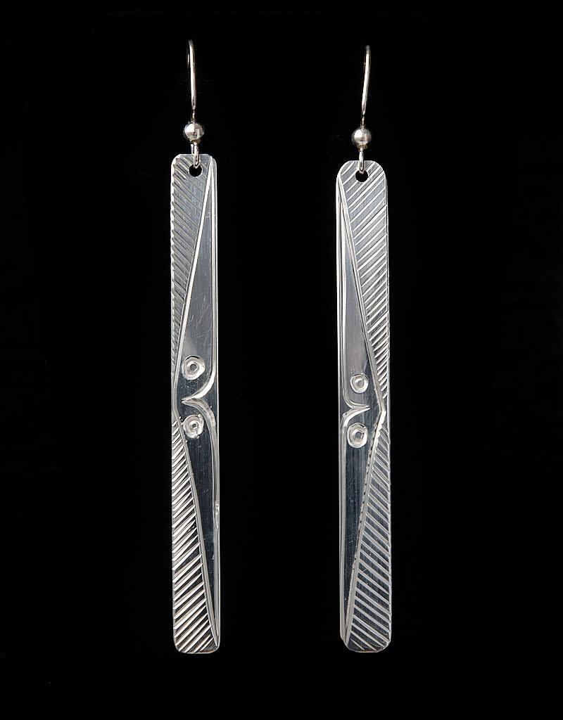 Agnes Wisden Silver Long Earring