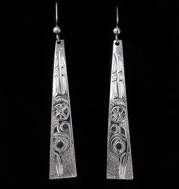 Wisla, Randy Long Hummingbird Silver Earring