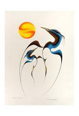 Tobacco, Garnet Blue Heron  - Mother and Child