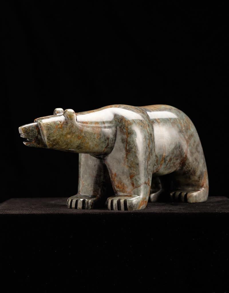 Moose, Howard Black Bear Soapstone Carving