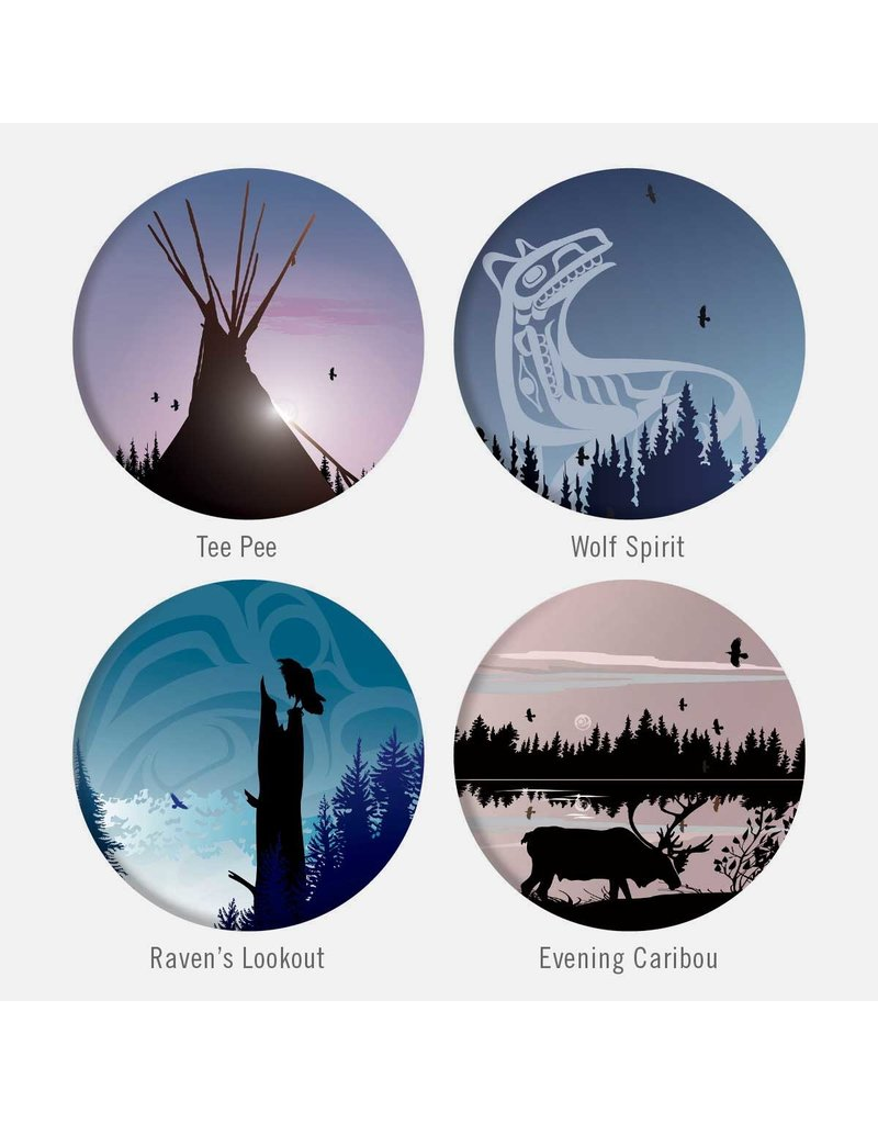 Canadian Art Prints Glass Magnet Set