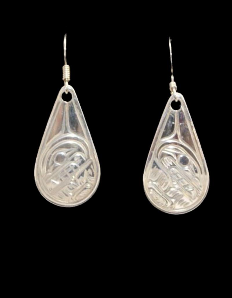 Harper Victoria Orca Teardrop Silver Earring