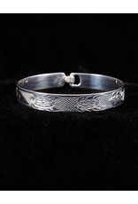 "Harper Victoria Turtle 1/4"" Silver Bangle"