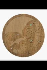 Gerry Sheena Eagle Salmon Round Panel