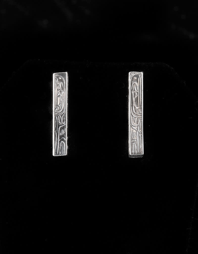 Harper Victoria Eagle Long Stud Silver Earring