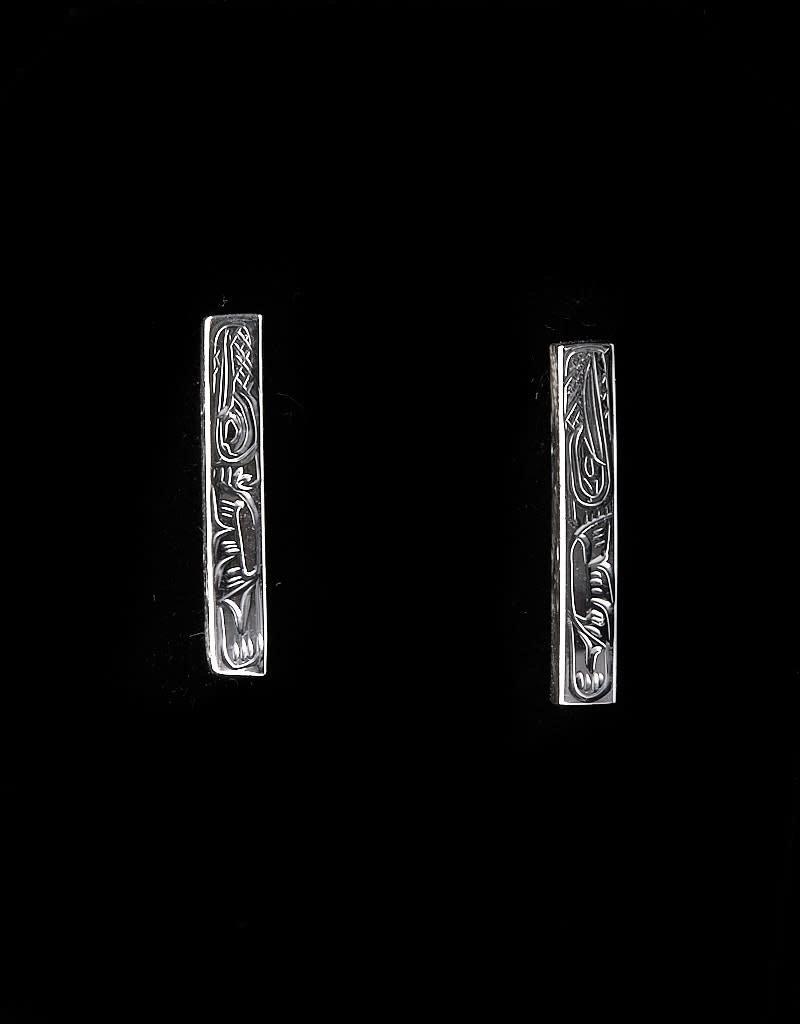 Harper Victoria Long Stud Silver Earring