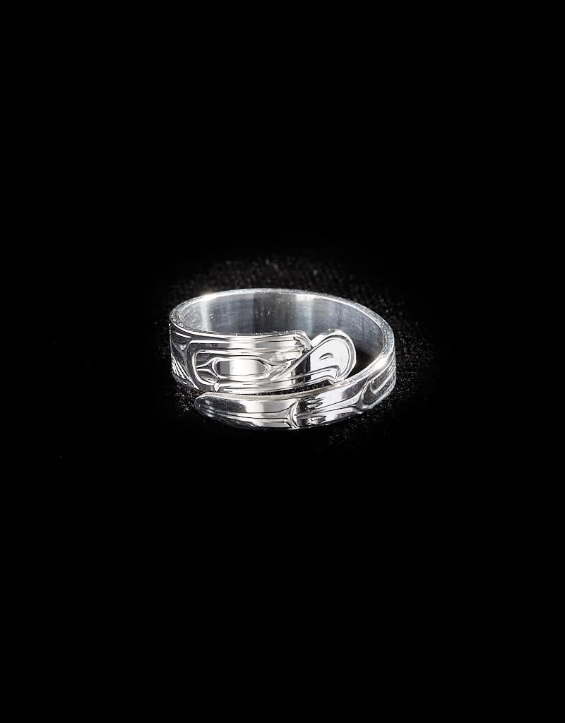 """Harper Victoria Eagle 1/4"""" Silver Ring"""