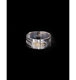 Harper Victoria Raven Silver & Gold Ring