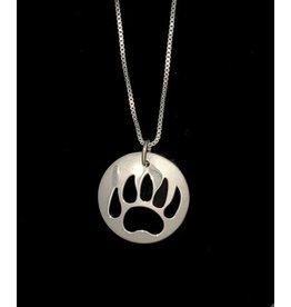 Nancy Dawson Bear Paw Silver Necklace
