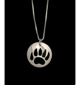 Vincent Henson Bear Paw Silver Necklace