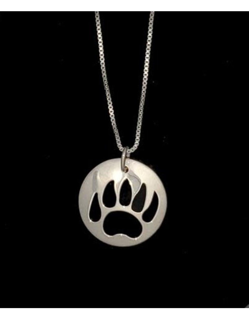 Vincent Henson Bear Paw Silver Necklace