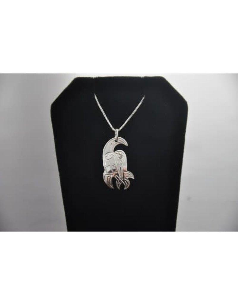 Vincent Henson Hummingbird Silver Necklace