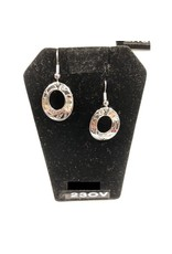 Vincent Henson Wolf Oval Silver Earring