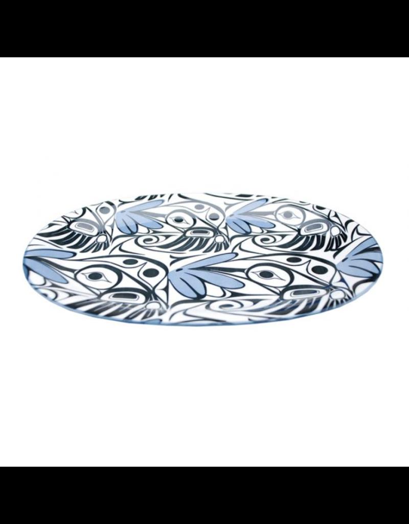 Panabo Sales Hummingbird Oval Large Platter - Blue