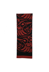 Panabo Sales Hummingbird Knit Scarf - Red and Black