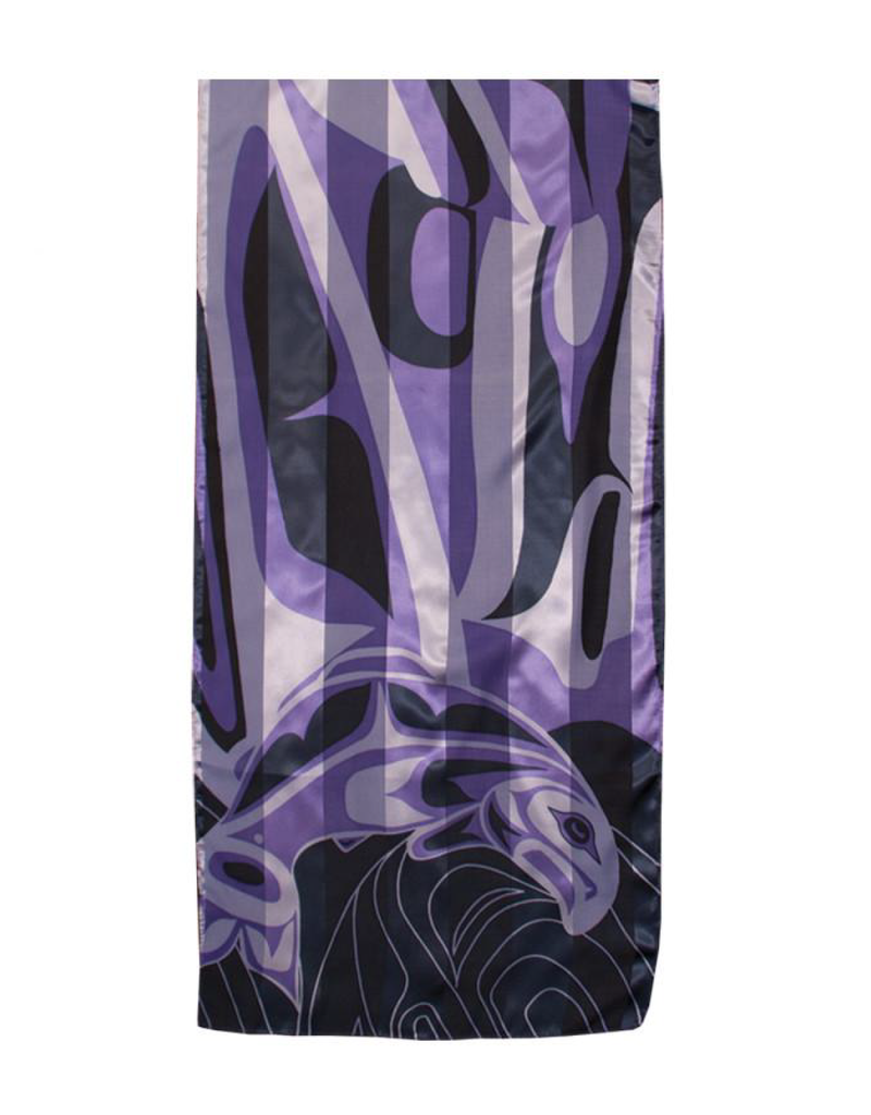 Joseph, Anthony Salmon Purple Poly Scarf