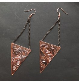 Agnes Wisden Salmon Copper Earring