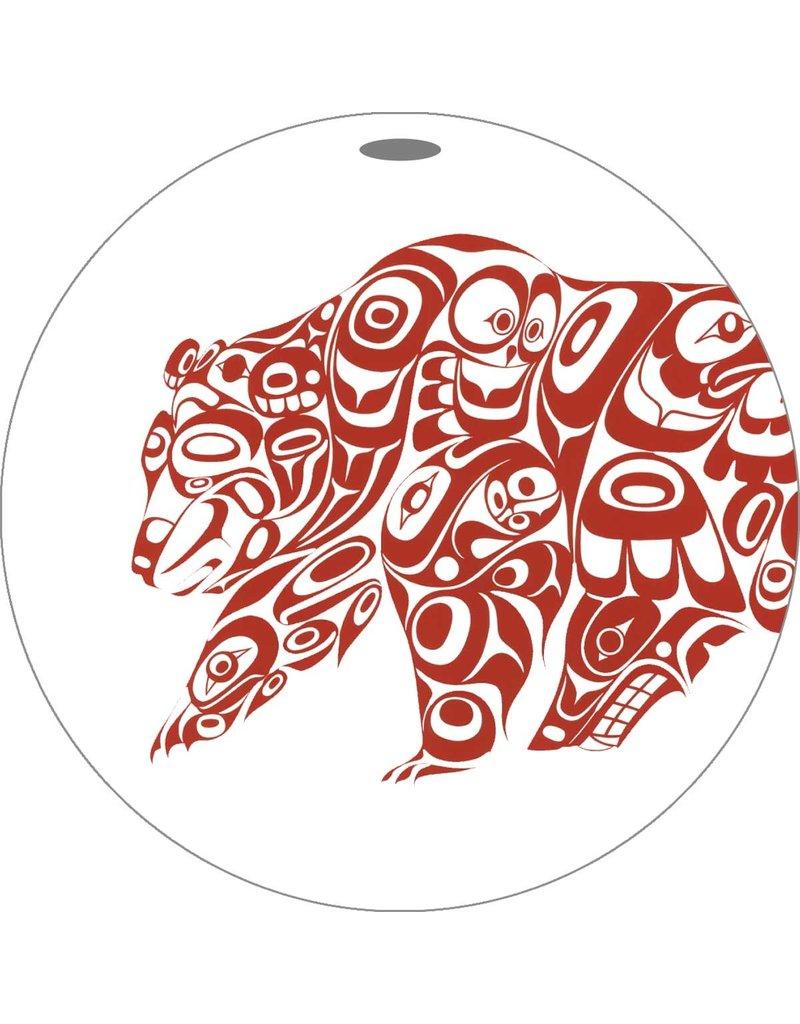 Canadian Art Prints Bear Design Ornaments