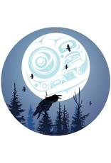 Canadian Art Prints Raven Moon Ornaments
