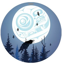 Canadian Art Prints Raven Moon Ornaments