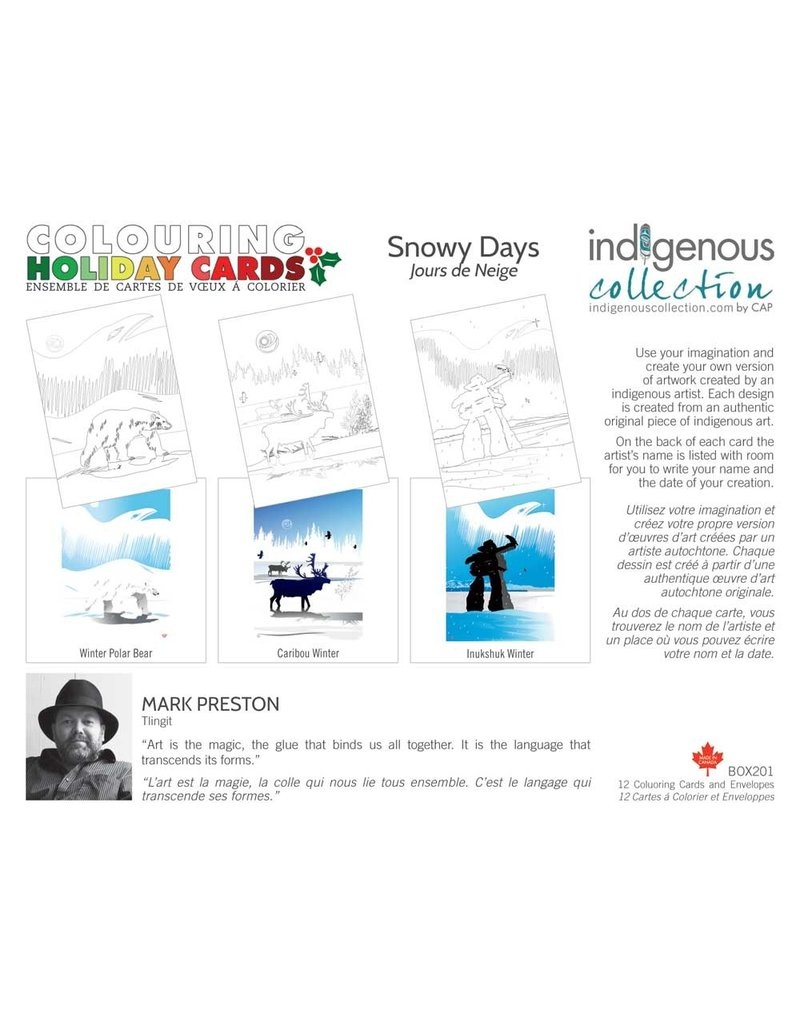 Canadian Art Prints Colouring Holiday Cards