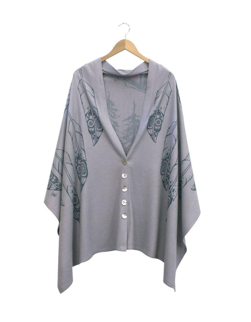Chloe Angus Design Spirit Button Wrap - GBR - Long Dove