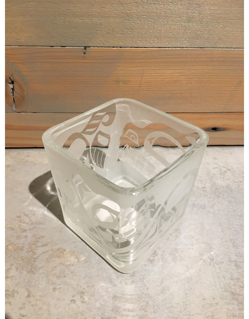 Michael Russell Square Glass Vase