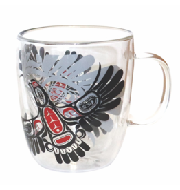 Native Northwest Double Walled Glass Mug