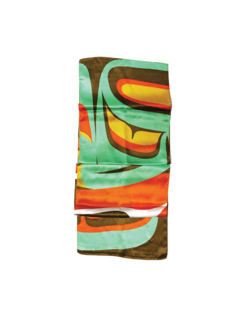 Native Northwest Silk Scarf - Bright Raven