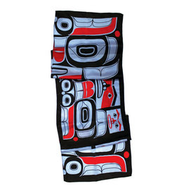 Native Northwest Silk Scarf - Chilkat Bear