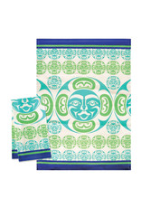Native Northwest Moon Tea Towel