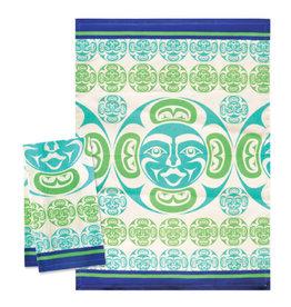 Native Northwest Moon Tea Towel