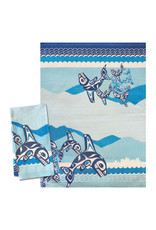 Native Northwest Orca Family Tea Towel