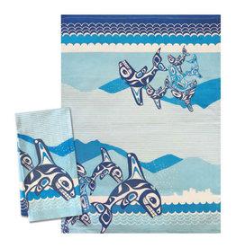 Native Northwest Orca Family Tea Towel