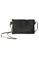Fred, Clifton Bearbox Crossbody Bag Black Leather
